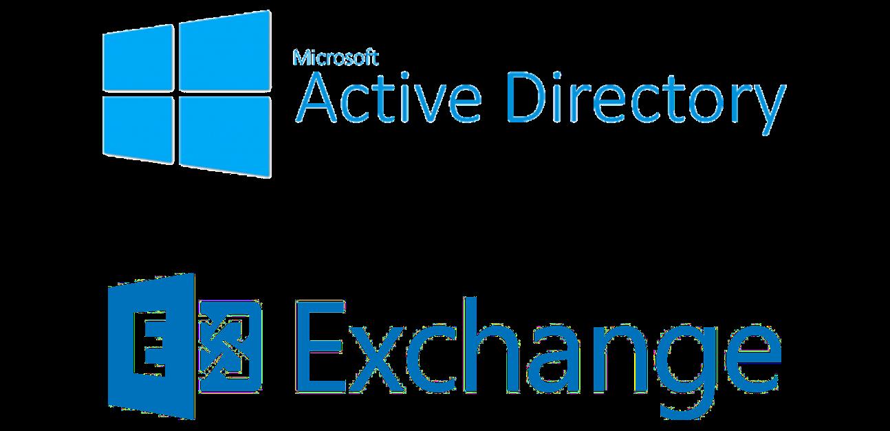 Microsoft Active Directory und Microsoft Exchange Logos