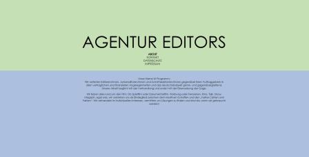 AGENTUR EDITORS Webseite