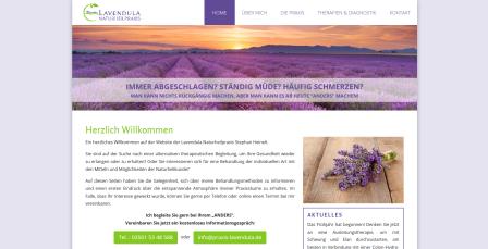 Screenshot von praxis-lavendula.de