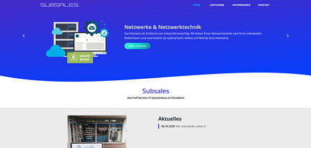Subsales Webseite
