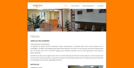 Screenshot von uhligpraxis.de
